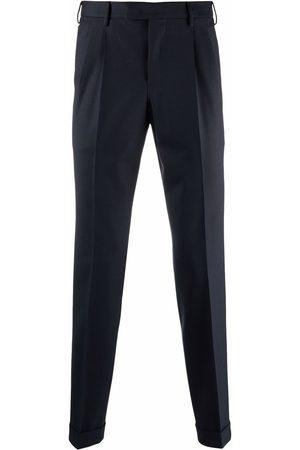 PT01 Box-pleat slim-fit trousers