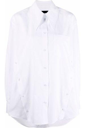 Simone Rocha Pointed-collar long-sleeve shirt