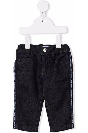 Emporio Armani Side logo-tape jeans