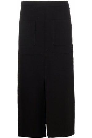 Pinko Front-slit pencil skirt