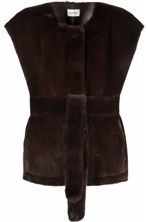 P.a.r.o.s.h. Belted faux-fur waistcoat