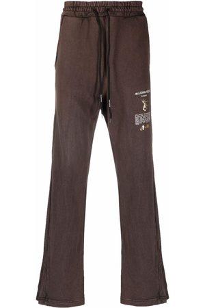 MAUNA KEA Logo-print flared track pants