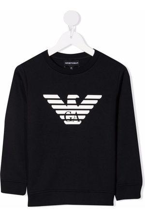 Emporio Armani Logo-print crew neck sweatshirt