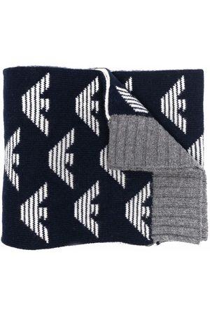 Emporio Armani Reversible logo-print scarf