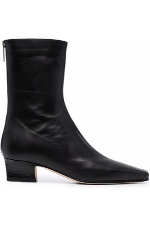 PARIS TEXAS Low-heel leather ankle boots