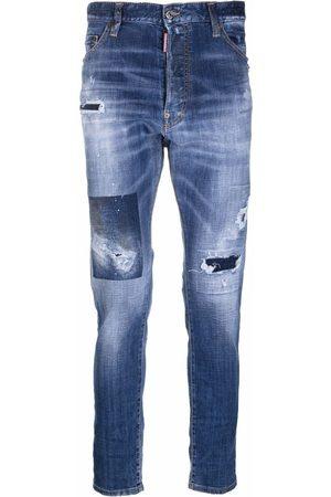 Dsquared2 Distressed slim-cut jeans