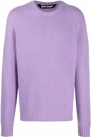 Palm Angels Intarsia-knit logo long-sleeve jumper