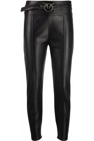 Pinko Slim-cut faux-leather trousers