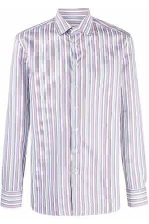 Etro Men Long sleeves - Vertical-stripe long-sleeve shirt