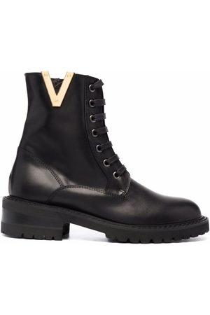 Via Roma 15 Embellished lace-up combat boots