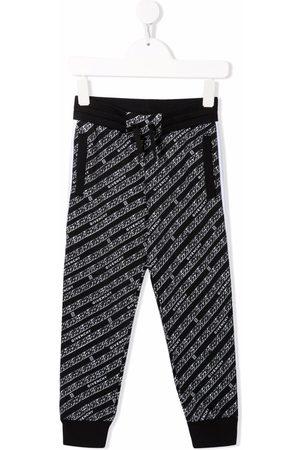 Givenchy Kids Boys Sweatpants - Chainlink-print track pants