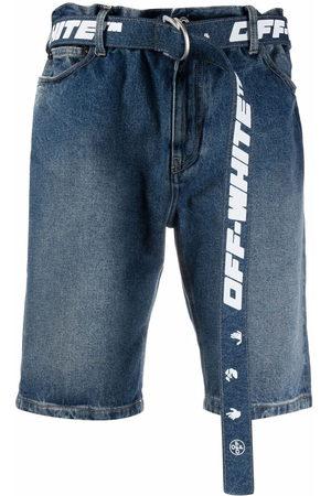 Off-White Belted denim shorts