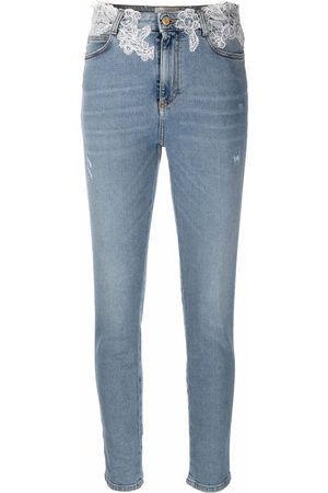Ermanno Ermanno Lace-trimmed skinny trousers