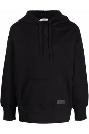 VALENTINO VLTN patch cotton hoodie