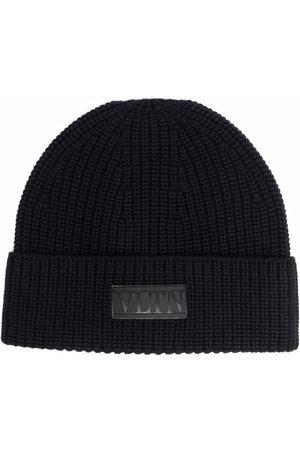 Valentino VLTN ribbed-knit beanie hat
