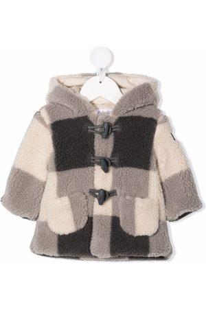 Il Gufo Checked duffle coat - Neutrals