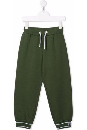Fendi Kids Logo-cuff track pants