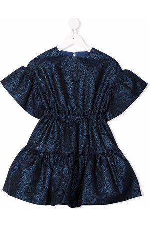 Simonetta Glitter-detail flared dress