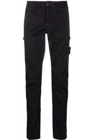 Stone Island Men Skinny Pants - Logo patch slim-fit trousers