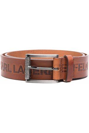 Karl Lagerfeld Embossed-logo buckle belt
