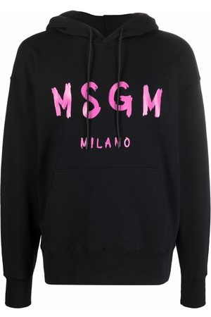 MSGM Logo-print long-sleeved hoodie