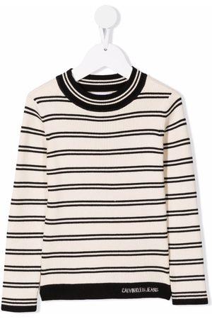 Calvin Klein Kids Striped round neck T-shirt - Neutrals