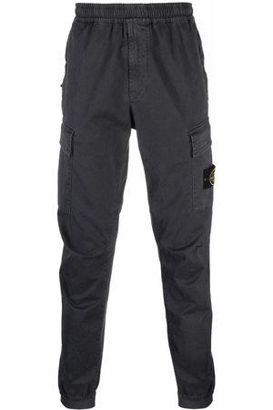 Stone Island Logo-patch track pants - Grey
