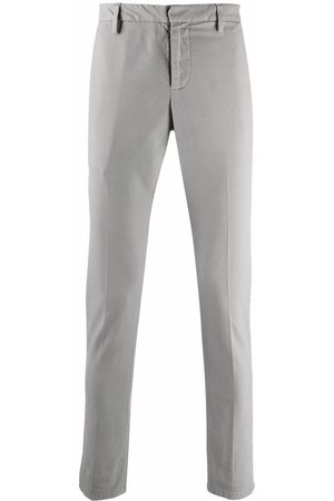Dondup Mid-rise cropped chinos - Grey