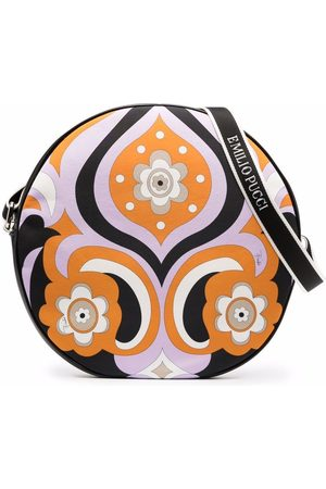 Emilio Pucci Junior Floral-print zip-up shoulder bag