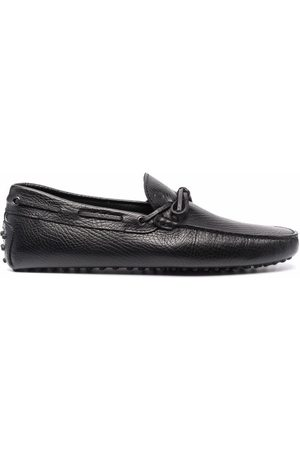 Tod's Men Loafers - Lace-up pebbled loafers