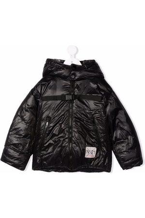 Nº21 Kids Logo-patch hooded jacket