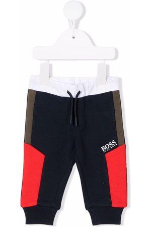 BOSS Kidswear Colour-block drawstring track pants