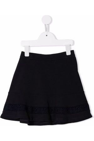 Chloé Kids Lace-embellished mini skirt