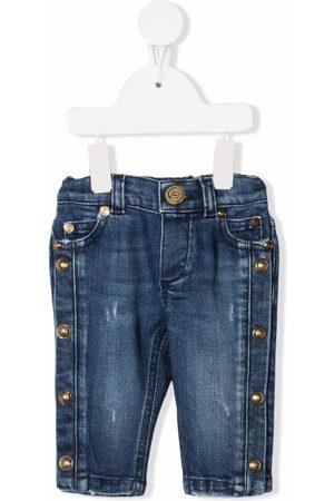 Balmain Kids Stud-detail denim jeans