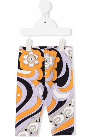 Emilio Pucci Junior Floral-print elasticated trousers