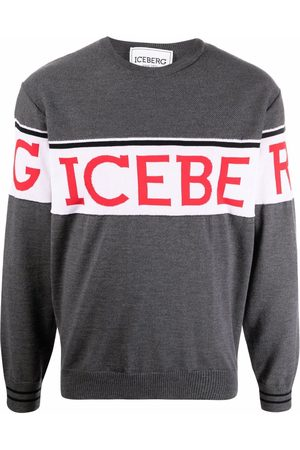 Iceberg Logo-printed jumper - Grey
