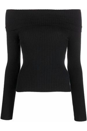 Blumarine Off-shoulder knitted jumper