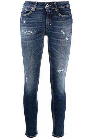 DONDUP Women Skinny - Mid-rise distressed skinny jeans