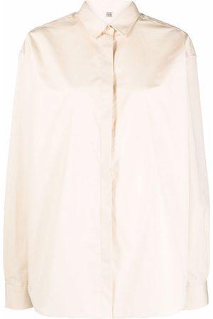 Totême Long-sleeve cotton shirt - Neutrals