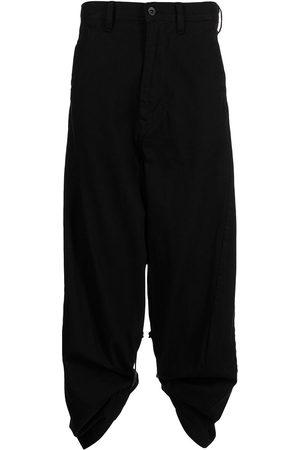 Julius Tape-detail wide-leg trousers