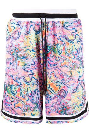 John Elliott Tie-dye drawstring shorts - Multicolour