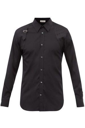 Alexander Mcqueen Men Shirts - Harness Cotton-blend Poplin Shirt - Mens