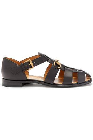 Gucci Elektra Leather Fisherman Sandals - Womens