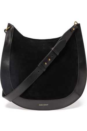 Isabel Marant Moskan Suede And Leather Shoulder Bag - Womens