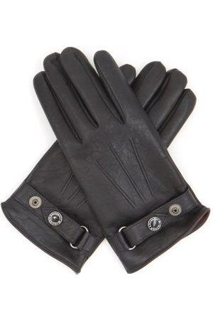 Alexander McQueen Men Gloves - Cashmere-lined Leather Gloves - Mens