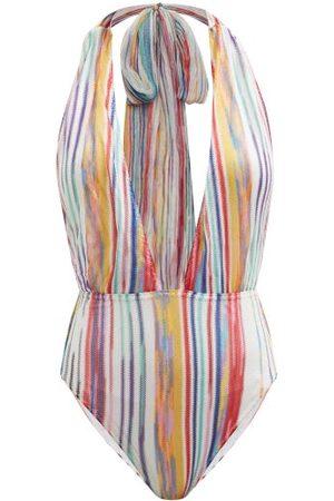 Missoni Women Swimsuits - Halterneck Striped Swimsuit - Womens - Multi Stripe