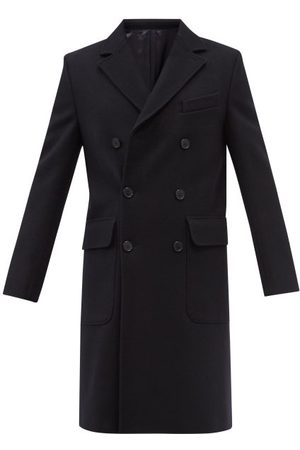 OFFICINE GENERALE Andre Double-breasted Wool Coat - Mens - Navy