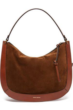 Isabel Marant Maokou Suede And Leather Shoulder Bag - Womens