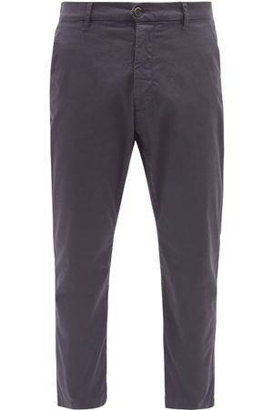 BARENA Men Straight Leg Pants - Rostro Cotton-blend Straight-leg Trousers - Mens - Navy