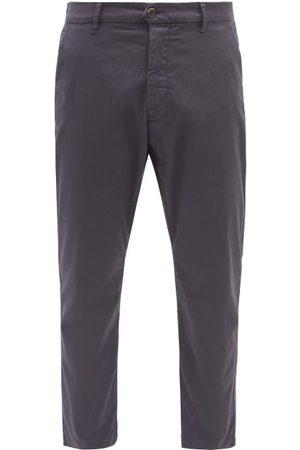BARENA Rostro Cotton-blend Straight-leg Trousers - Mens - Navy